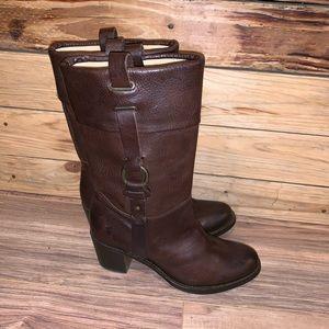 Women's Frye Jane Harness Motorcycle Boots Size 9
